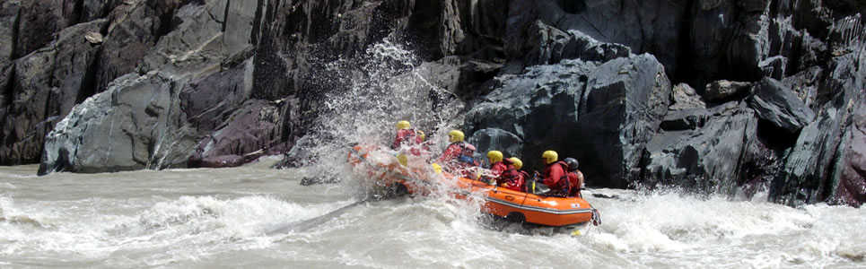 Rafting on Indus River